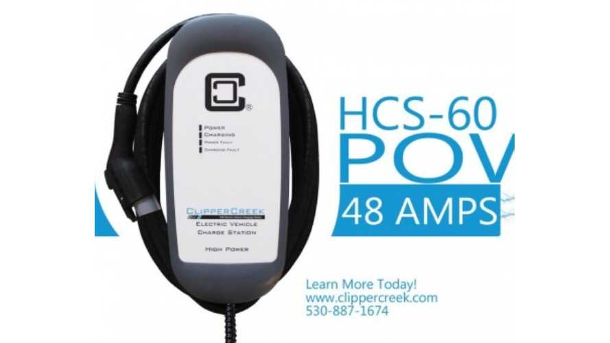 ClipperCreek Launches HCS-60 - 11.5 kW 240V 48 Amp Charging Station