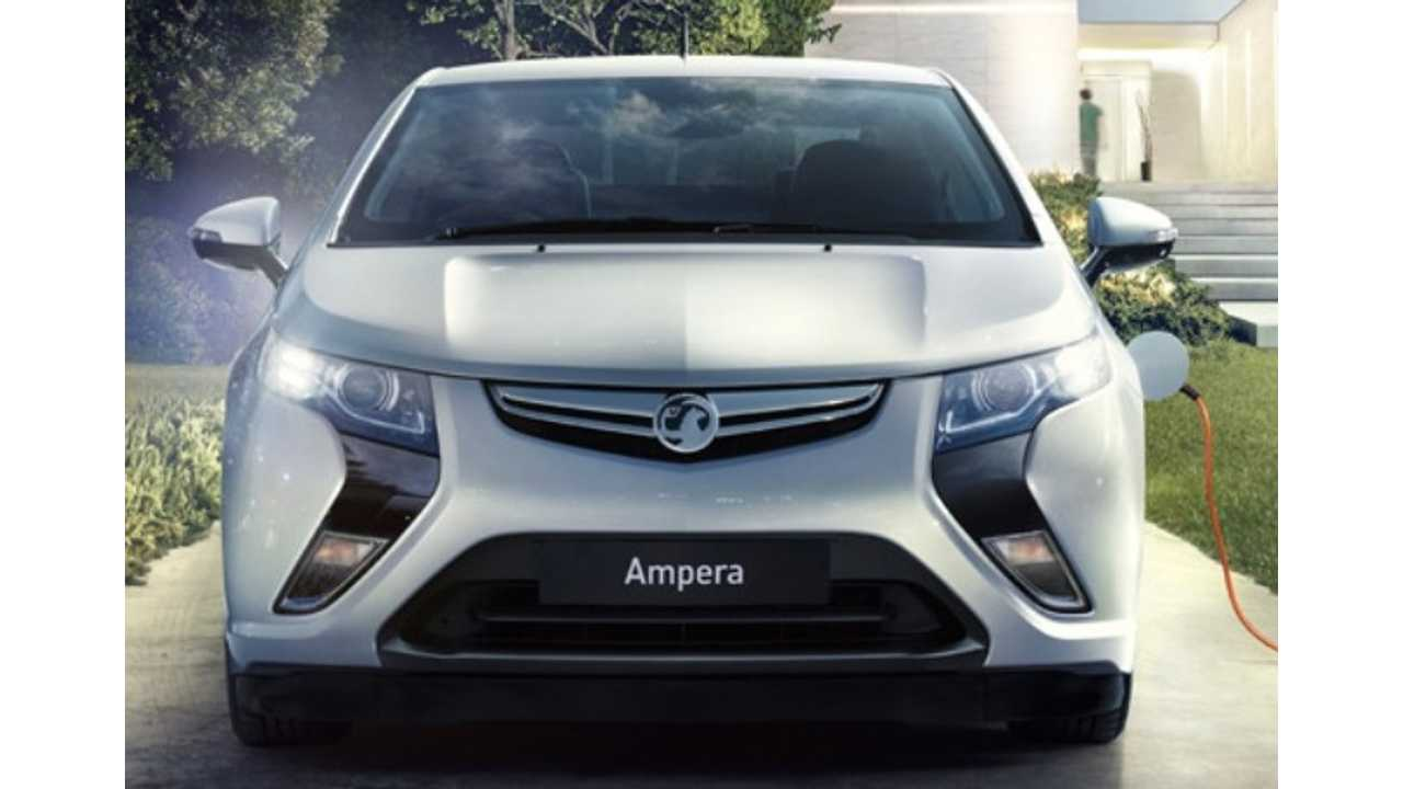 Vauxhall Cuts Ampera Pricing In UK: Reduces Base Price By £3,000 ($4,700 US)
