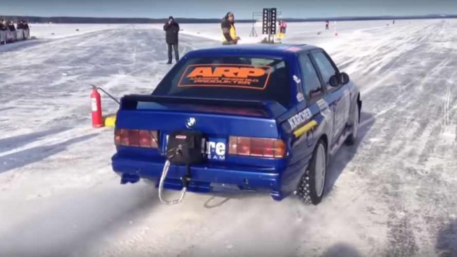 BMW M3 E30 Becomes Fastest Car On Ice After Hitting 215.5 MPH