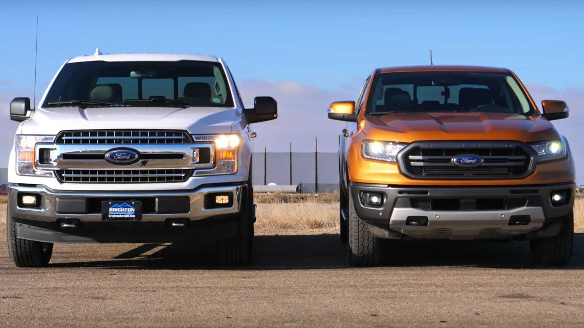 2019 Ford Ranger Takes On F-150 In Head-To-Head Drag Race