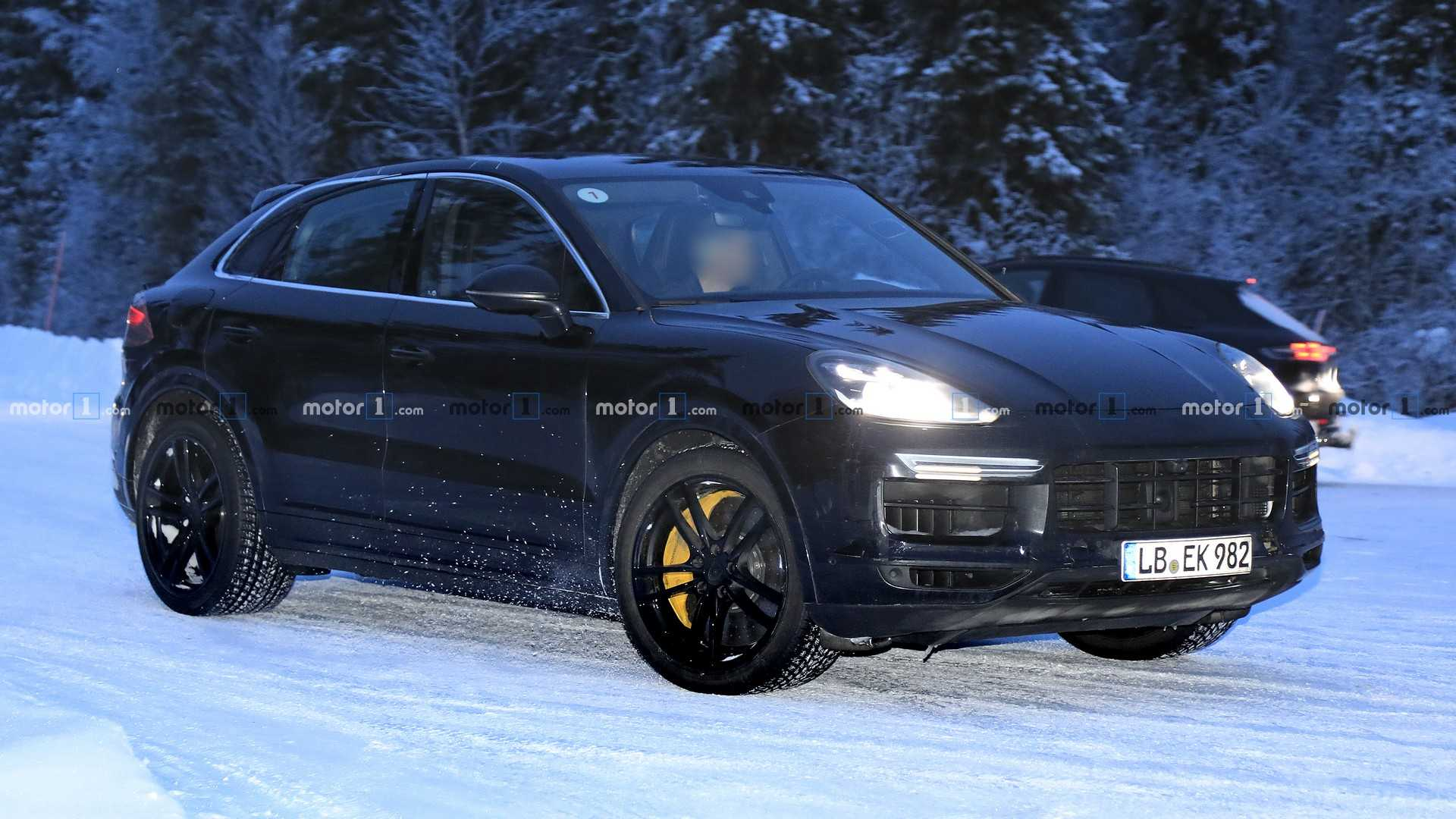 Porsche Cayenne Coupe Spied Testing In Turbo Version Update