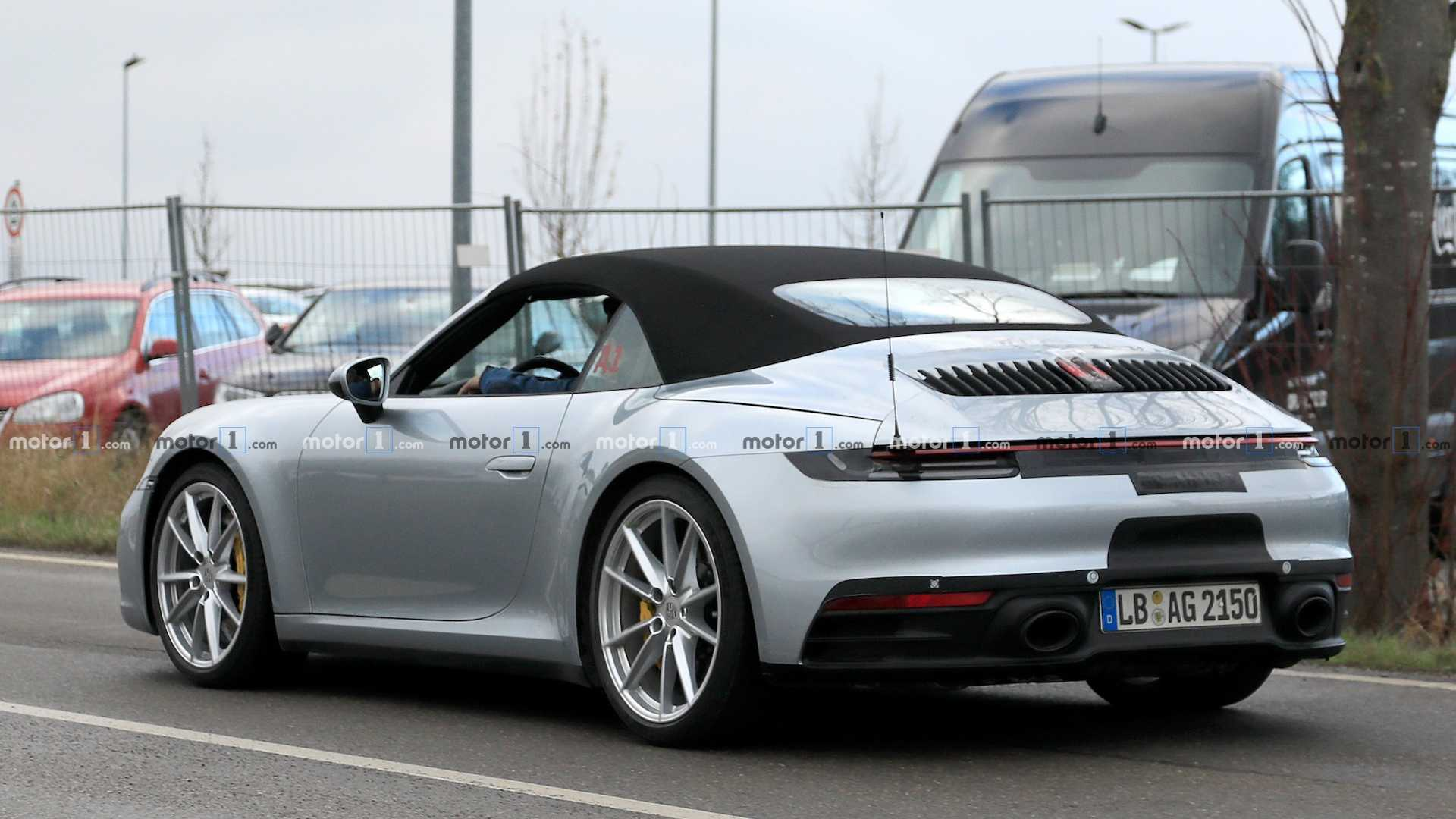 2020 Porsche 911 Convertible Spied With Its Top On