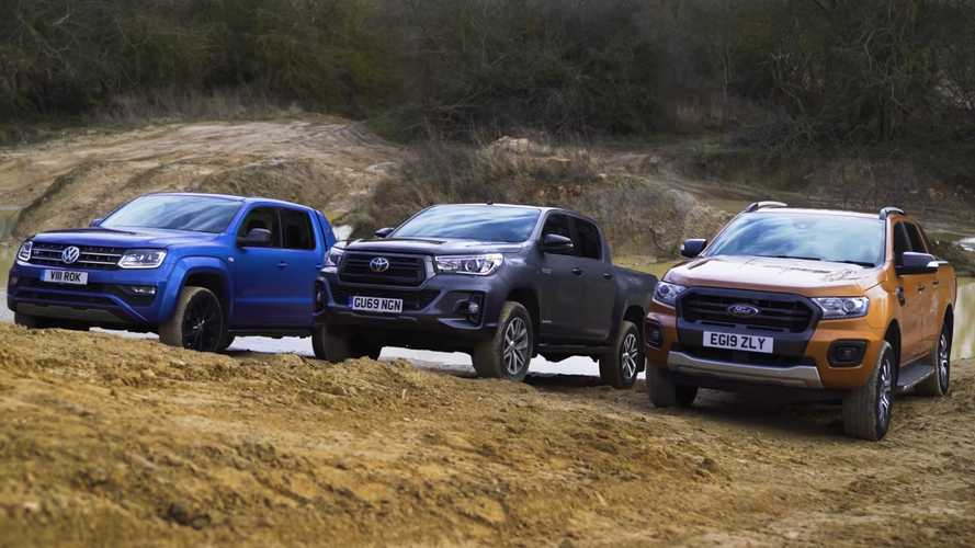 Ford Ranger Battles VW Amarok And Toyota Hilux In Off-Road Challenge
