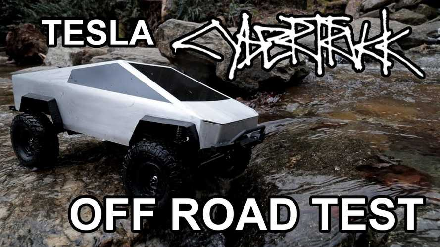 Tiny Tesla Cybertruck With Hardcore Off-Road Package Put To The Test
