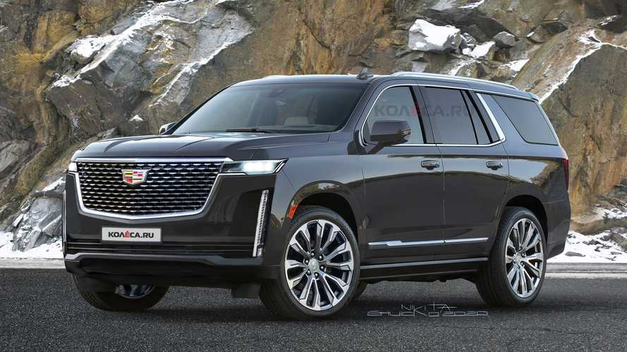 2021 Cadillac Escalade Rendered Based On Teasers