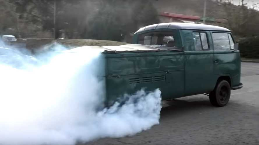 Tesla-swapped VW Crew Cab is a retro tyre-shredder from the UK