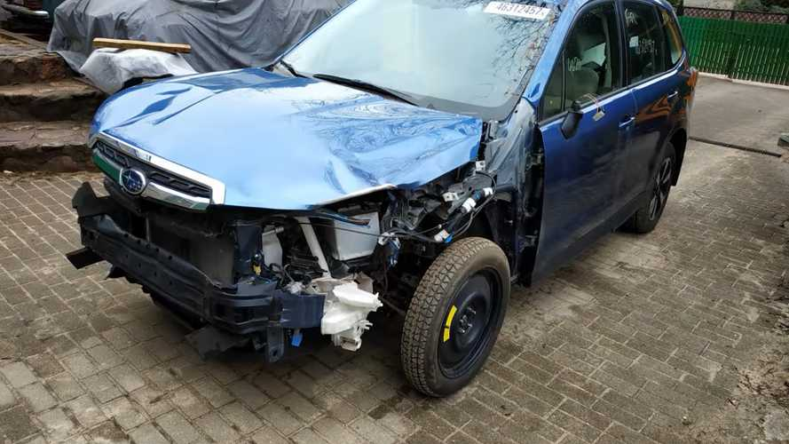 Wrecked Subaru Forester Lives Again After Full Body Repair