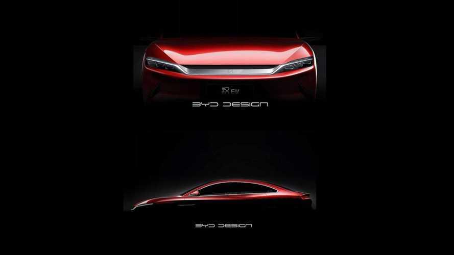BYD Teases New Sporty Electric Han Sedan
