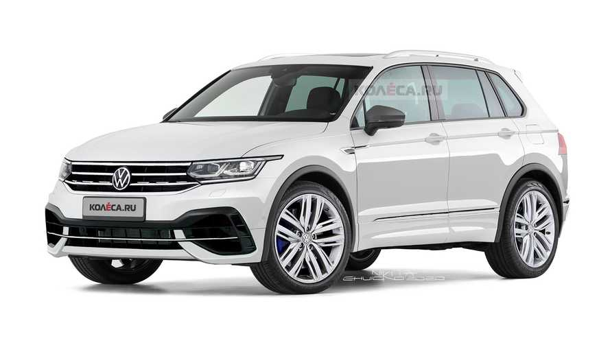 VW Tiguan R Renderings Preview Subtle Performance Crossover