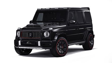 Mercedes G-Class modded with beefy body, snazzy wheels