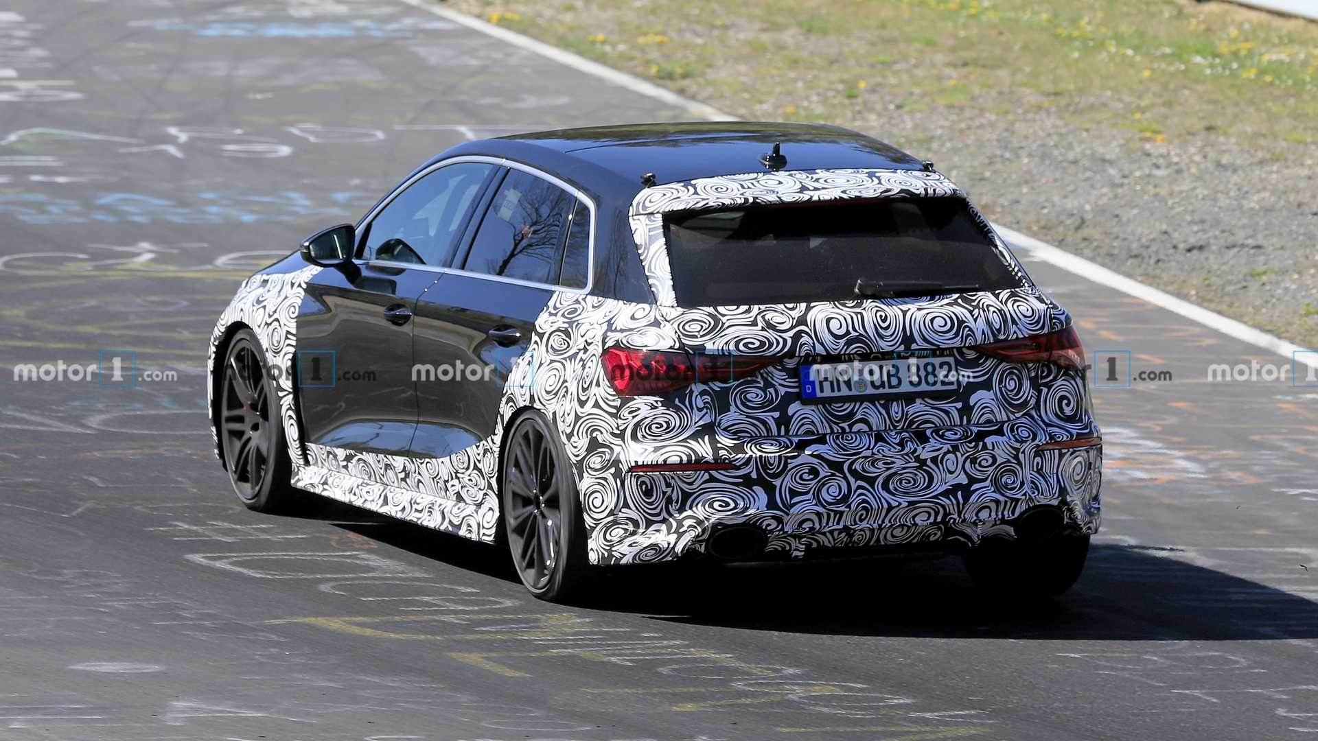 2021 Audi RS3 Plays Its Unmistakable Inline-Five Sound In Spy Video