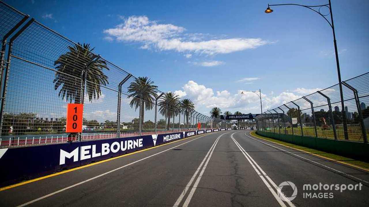 Empty Australian GP 2020 track