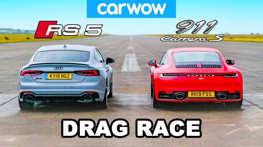 Audi RS5 vs Porsche 911 Carrera S drag race is super close