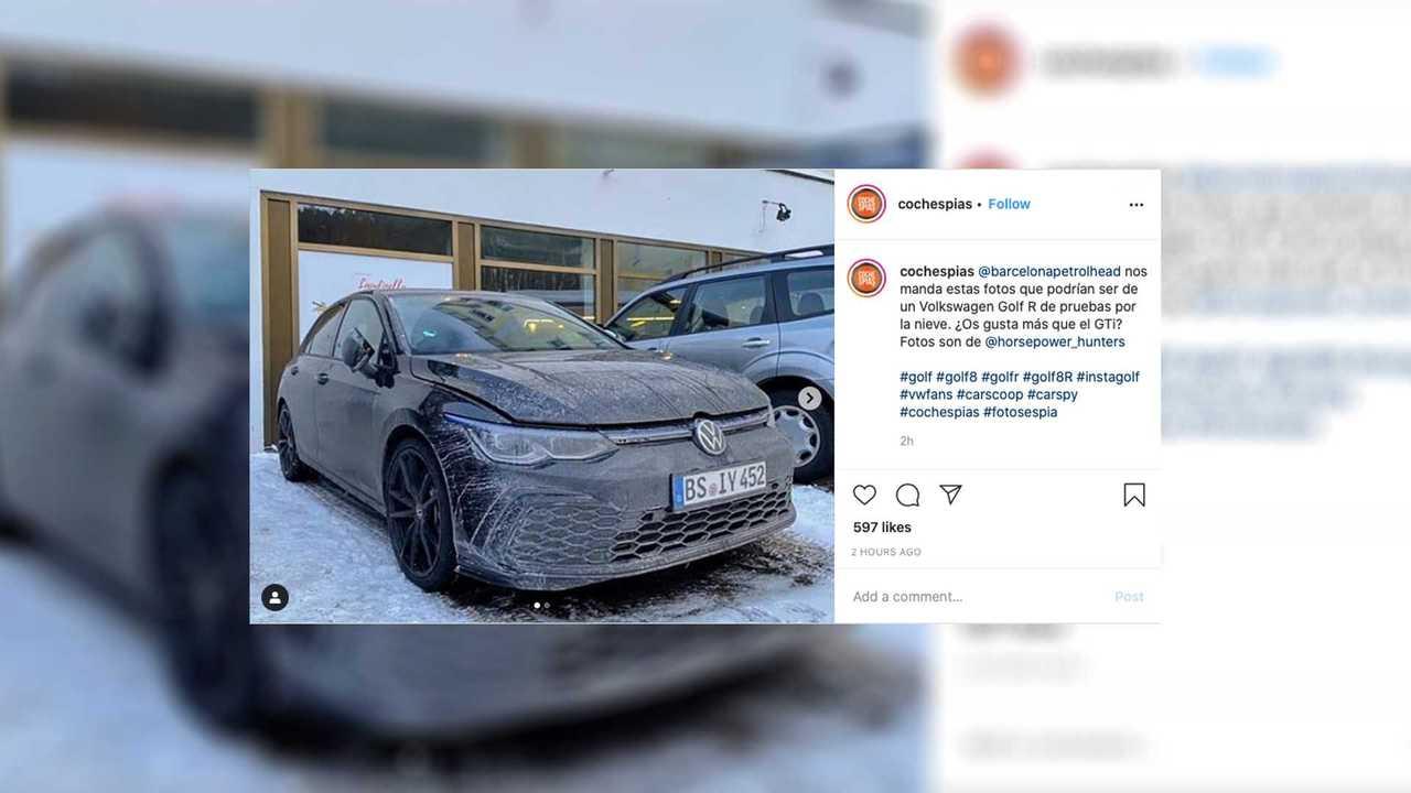VW Golf R espiado de cerca con camuflaje cero 43