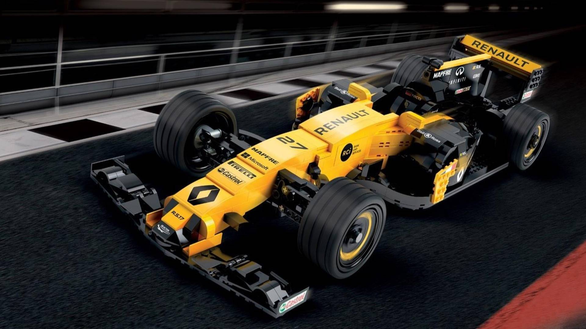 Renault Builds 600000 Piece Lego Model Of Its Rs 17 F1 Car
