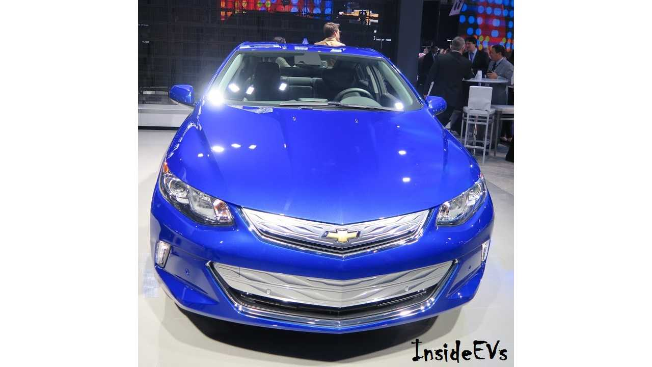 2016 Chevrolet Volt Rated At 53 Miles Electric Range, 106 MPGe, 42 MPG On Gas