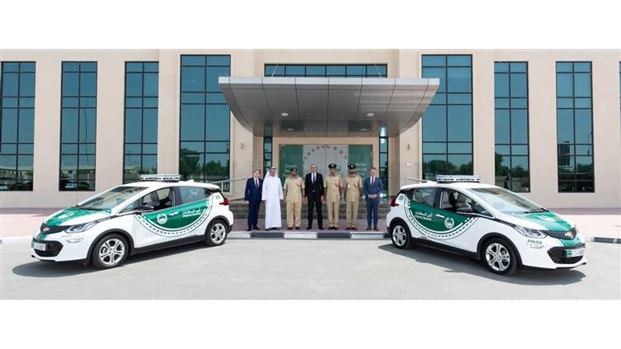 Chevy Bolt EV Reports For Dubai Police Duty