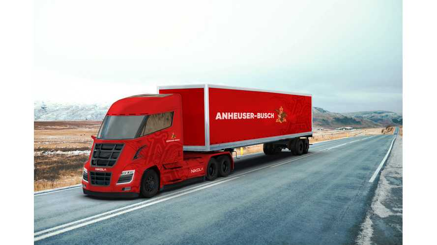 Anheuser-Busch Orders *800 Fuel Cell Semi Trucks From Nikola