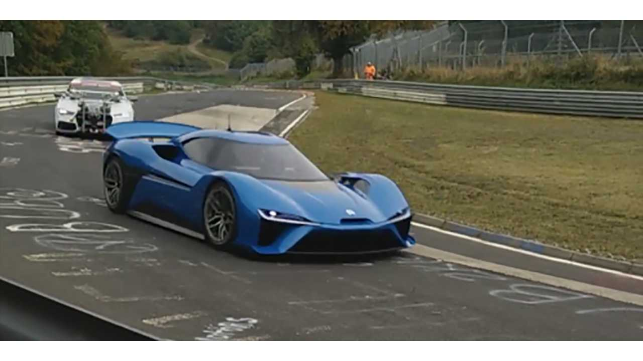 NextEV Electric Hypercar Spotted On Nurburgring - Video