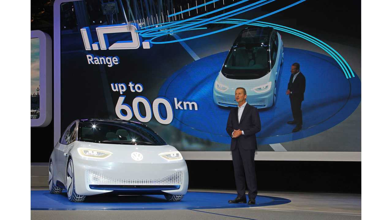 Volkswagen CEO Says It Make Sense For Automaker To Have Its Own Battery Factory