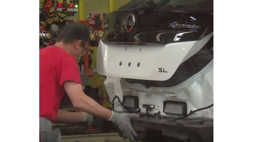 Nissan Releases 20-Minute 2018 LEAF U.S. Production Video