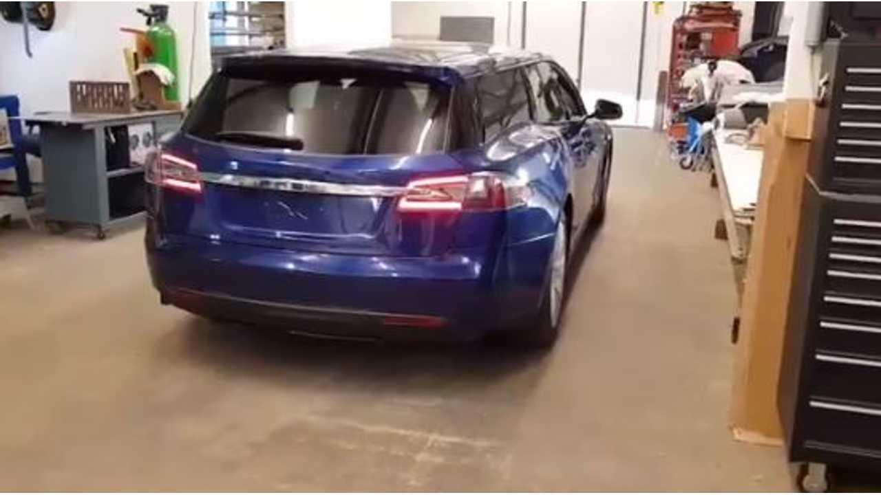 Tesla Model S Station Wagon Now Complete