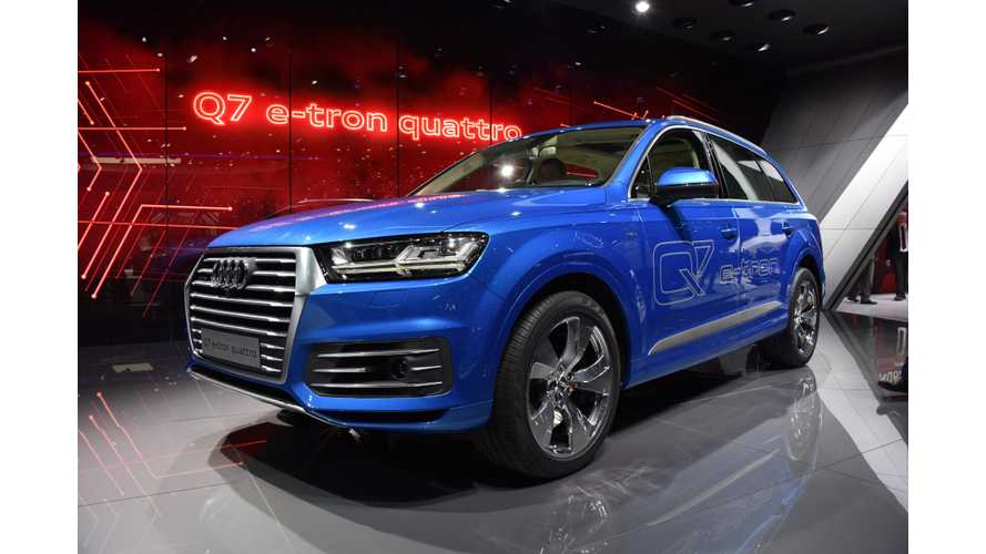 Audi Q7 e-tron - Live Images + Videos From 2015 Geneva Motor Show