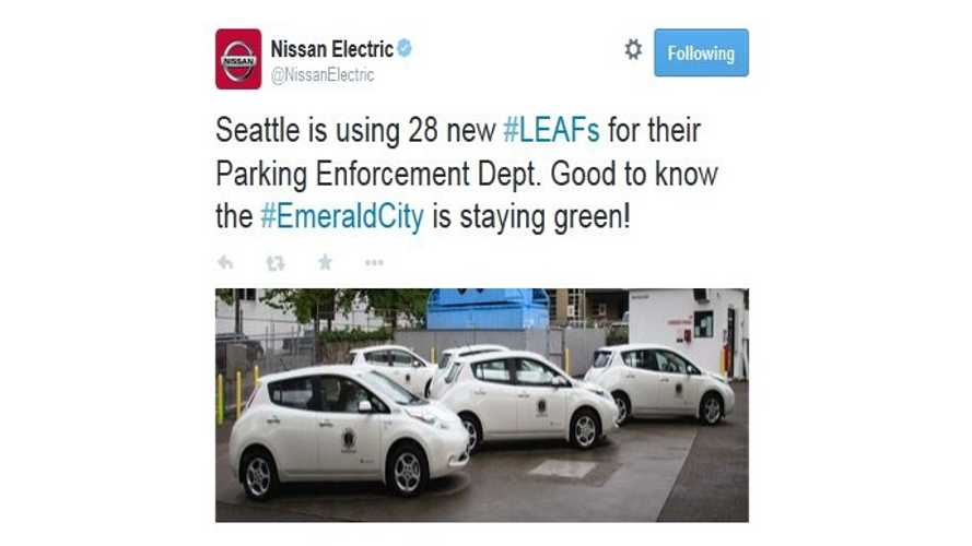 Seattle Purchases 28 Nissan LEAFs For Parking Enforcement Duties