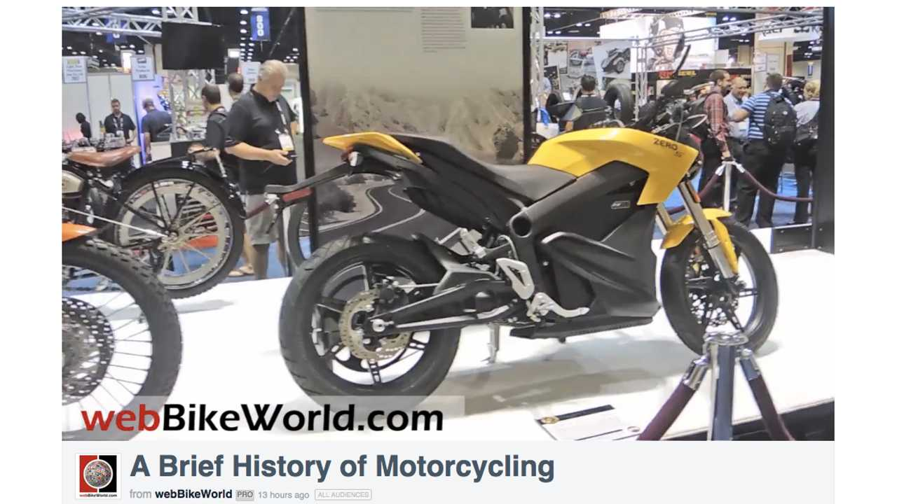 A Brief History of Motorcycles (w/video)