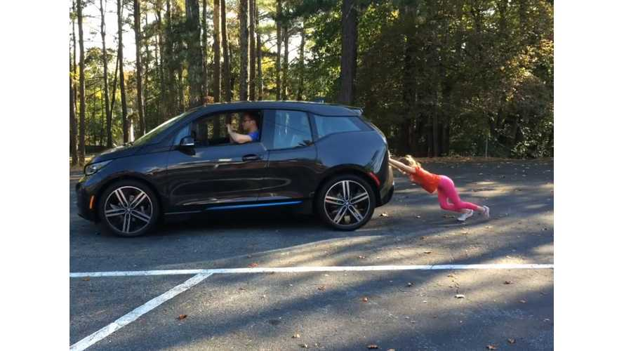 BMW i3, Now A 7-Year-Old Girl Pushes One Away - Video