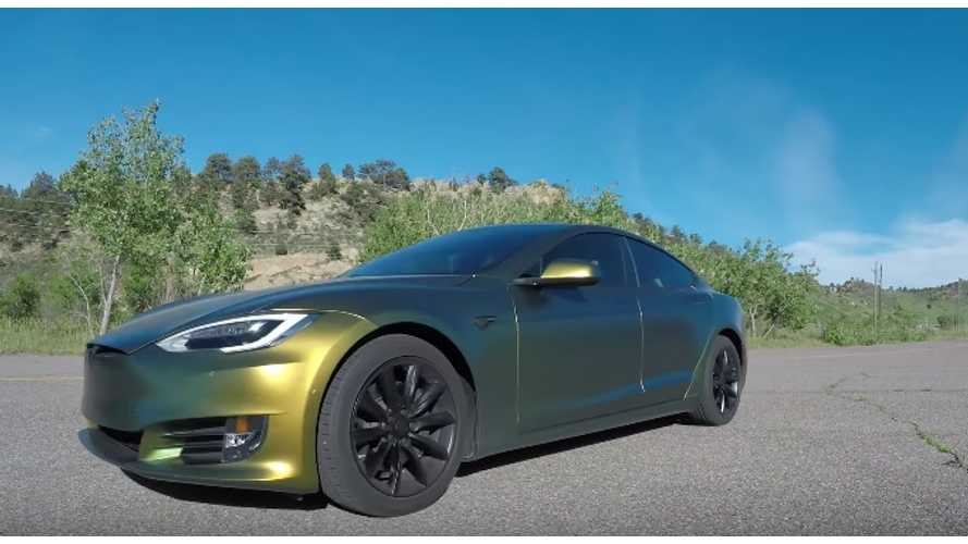 Testing Top Speed Of Tesla Model S ...In Reverse - Video