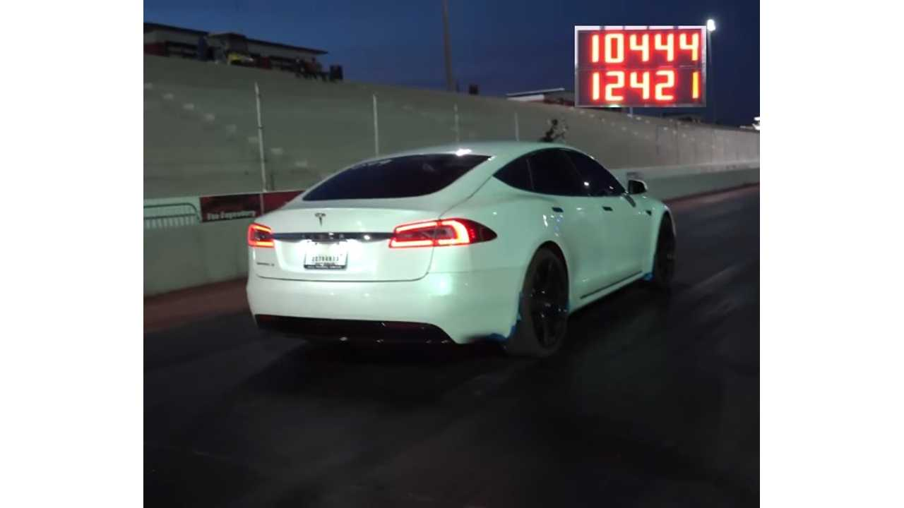 Tesla Model S 1/4 Mile Broken Again, This Time By Going Frunk-less (video)