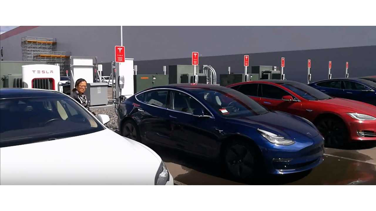 Tour Of Tesla Gigafactory Notes Early Model 3s, More - Video