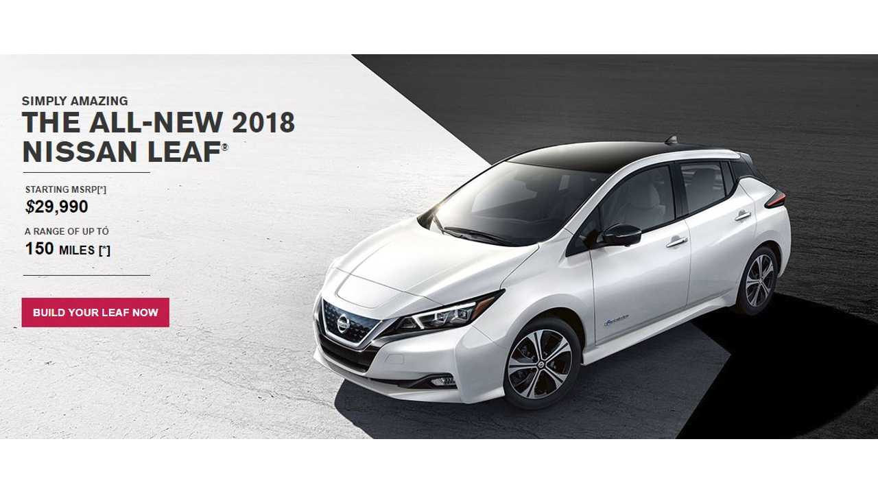 2018 Nissan Leaf S Site Hasn T Been Updated Yet To Include The 151