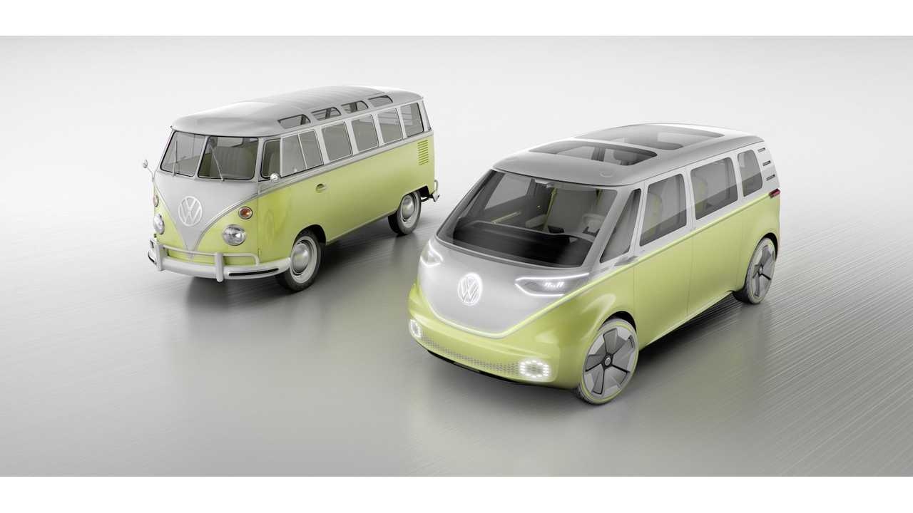Volkswagen debuts its latest vision of the microbus - the I.D. Buzz. Headed for production just ~70 years after the original Type 2