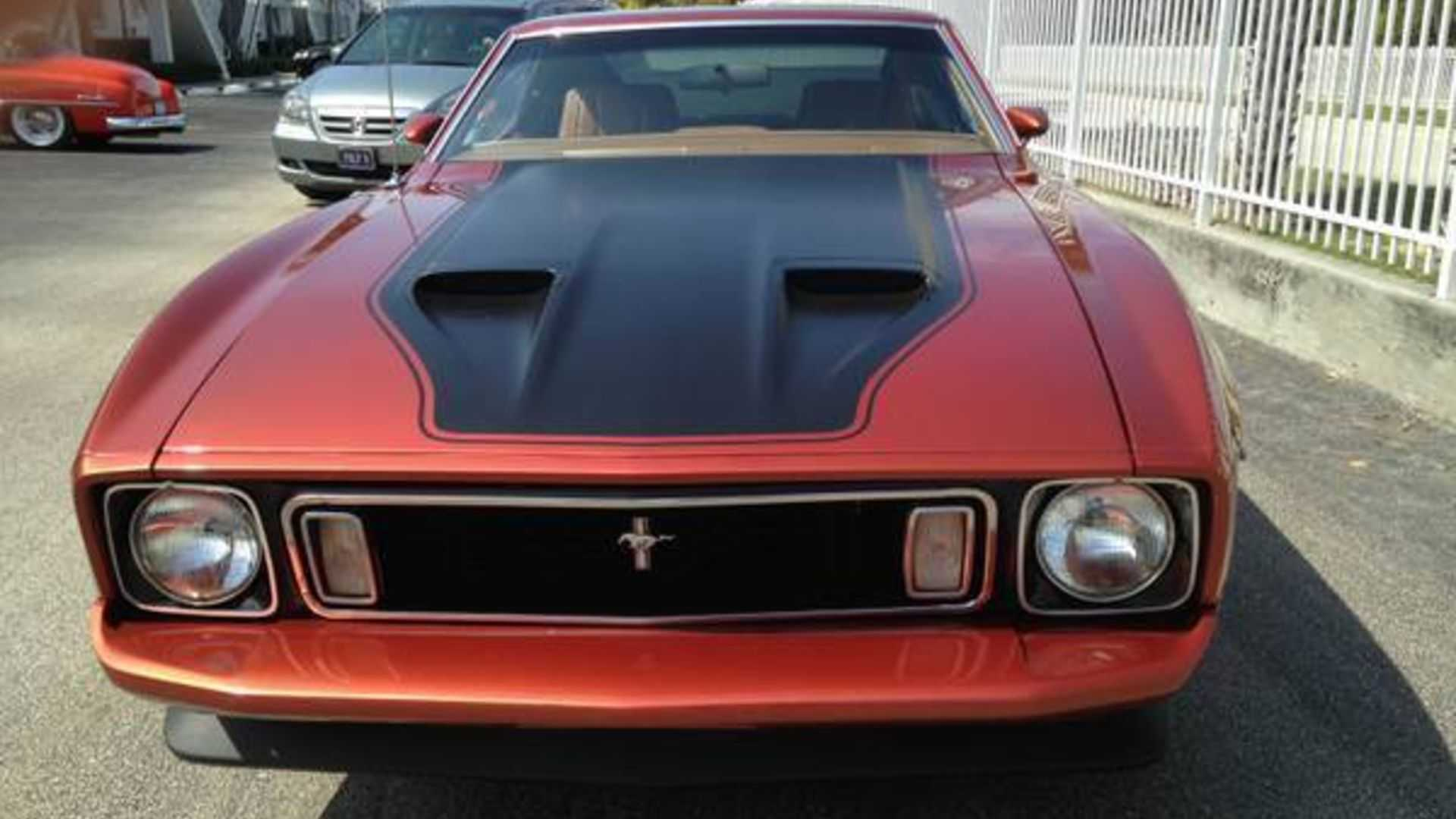 This 1973 ford mustang mach 1 is a numbers matching beauty motorious