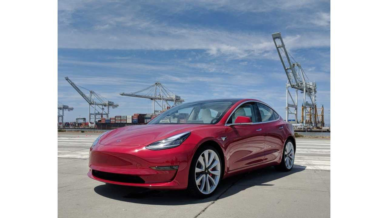 Marques Brownlee Gets First Drive Of Tesla Model 3 Performance