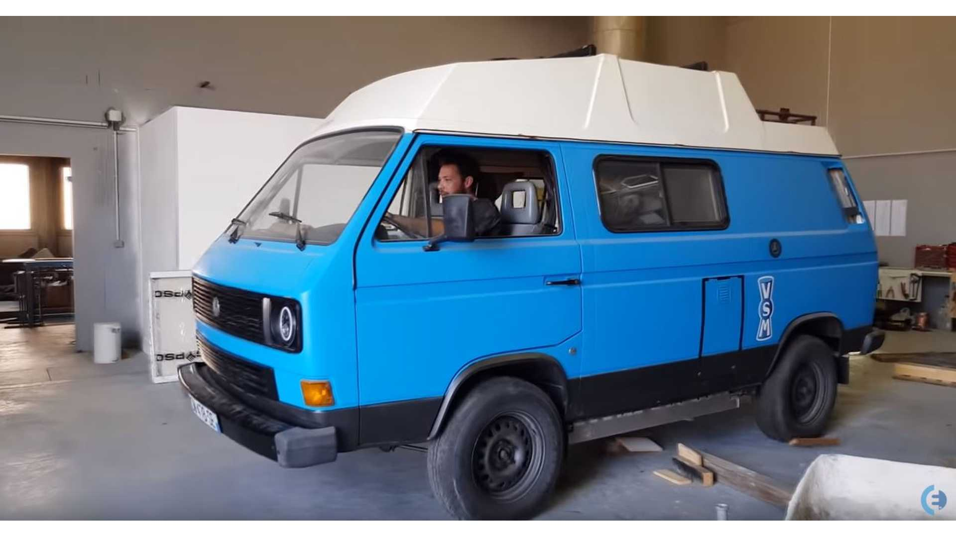 Watch This Drive Of A Tesla-Powered VW Electric Van