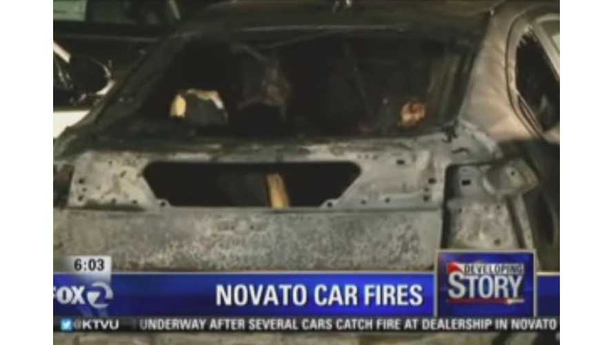 BREAKING: Four Chevrolet Volts Burn At Dealership - Arson  Suspected (w/videos)