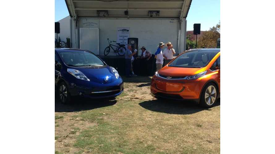 2016 Nissan LEAF, Chevrolet Bolt Makes Appearance In LA For Drive Electric Week