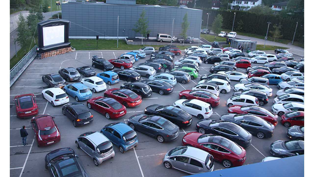 IKEA Drive-in Theater & 142 EVs - Video