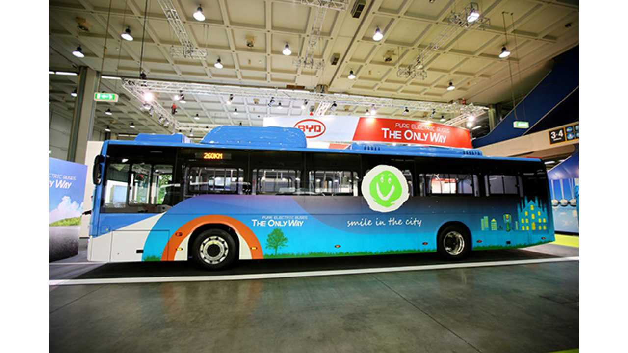 BYD Shows Off Its Newest Electric Bus