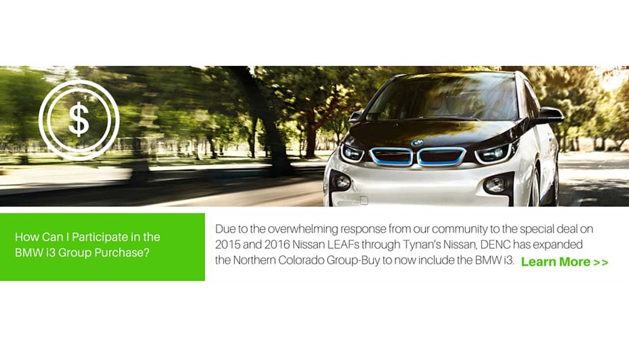 Group Buy Deal Drives Price Of BMW i3 Down To Just $24,944