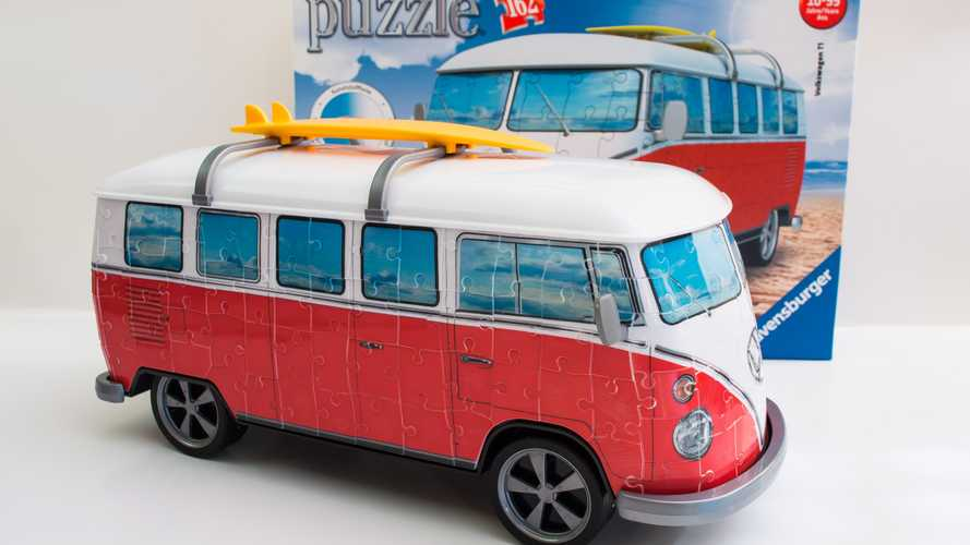 See A Vintage VW Bus Come Together As Radical Rolling 3D Puzzle