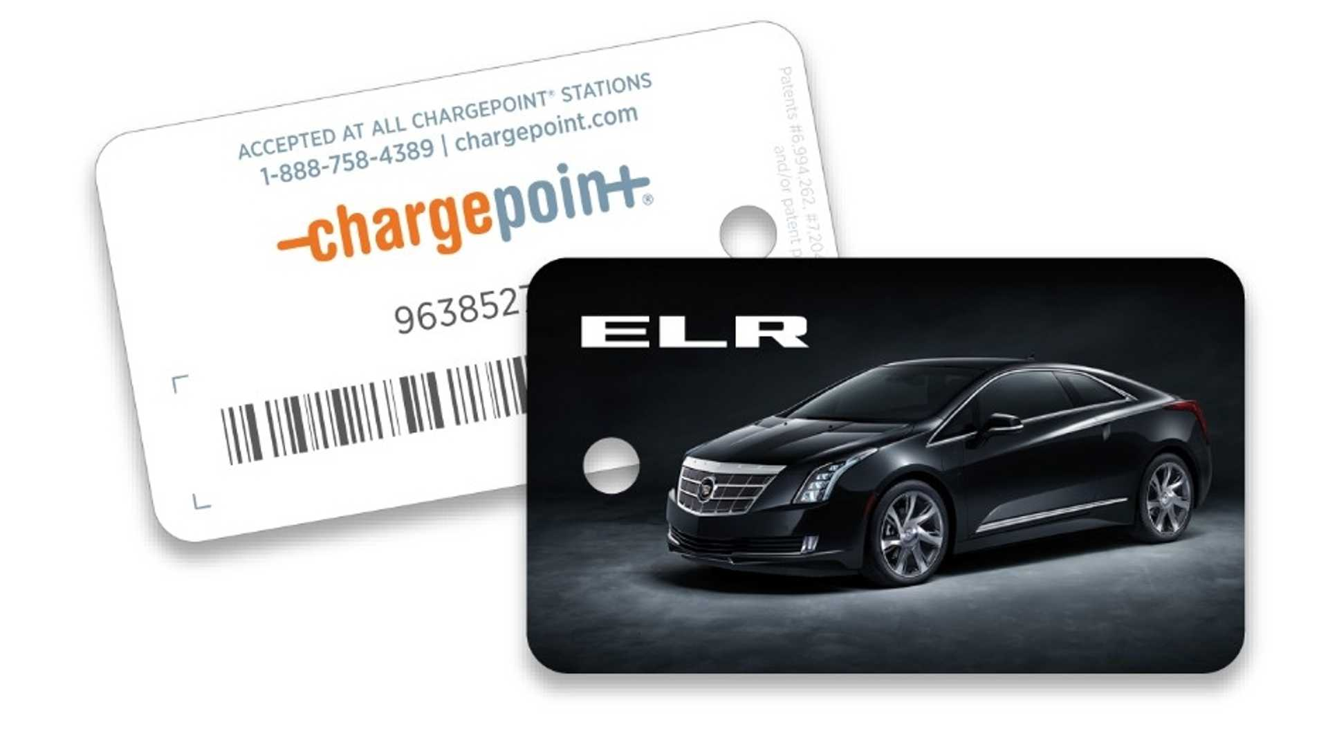A Cadillac Elr Get Free Chargepoint Card Charging Fees Still Ly