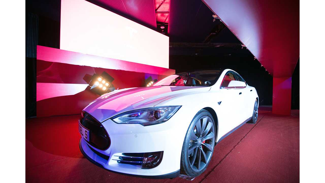 Tesla Celebrates First Model S Deliveries In Hong Kong - Video