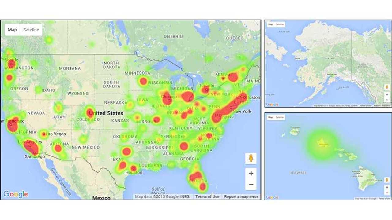 Chevrolet Volt Heat Map U.S.