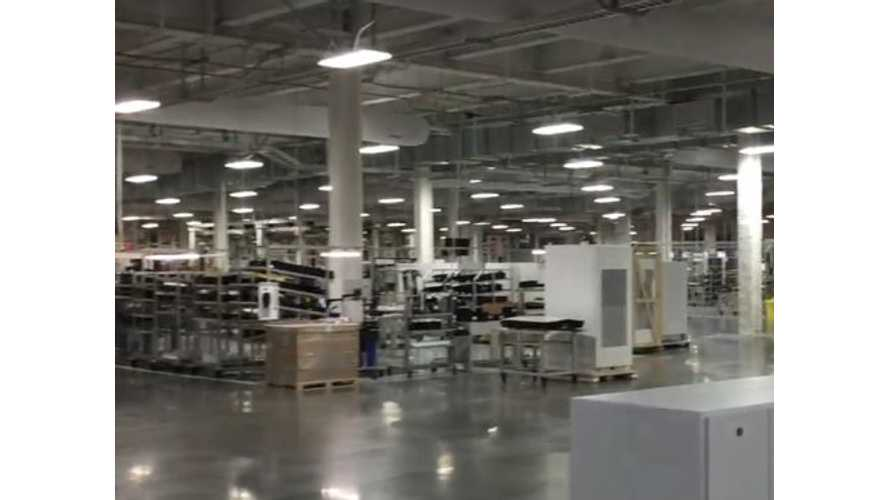 First Look Inside Tesla Gigafactory - Video