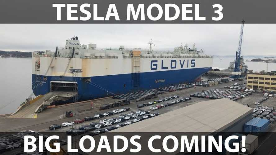 Tesla Model 3 Deliveries Flood Norway: Video