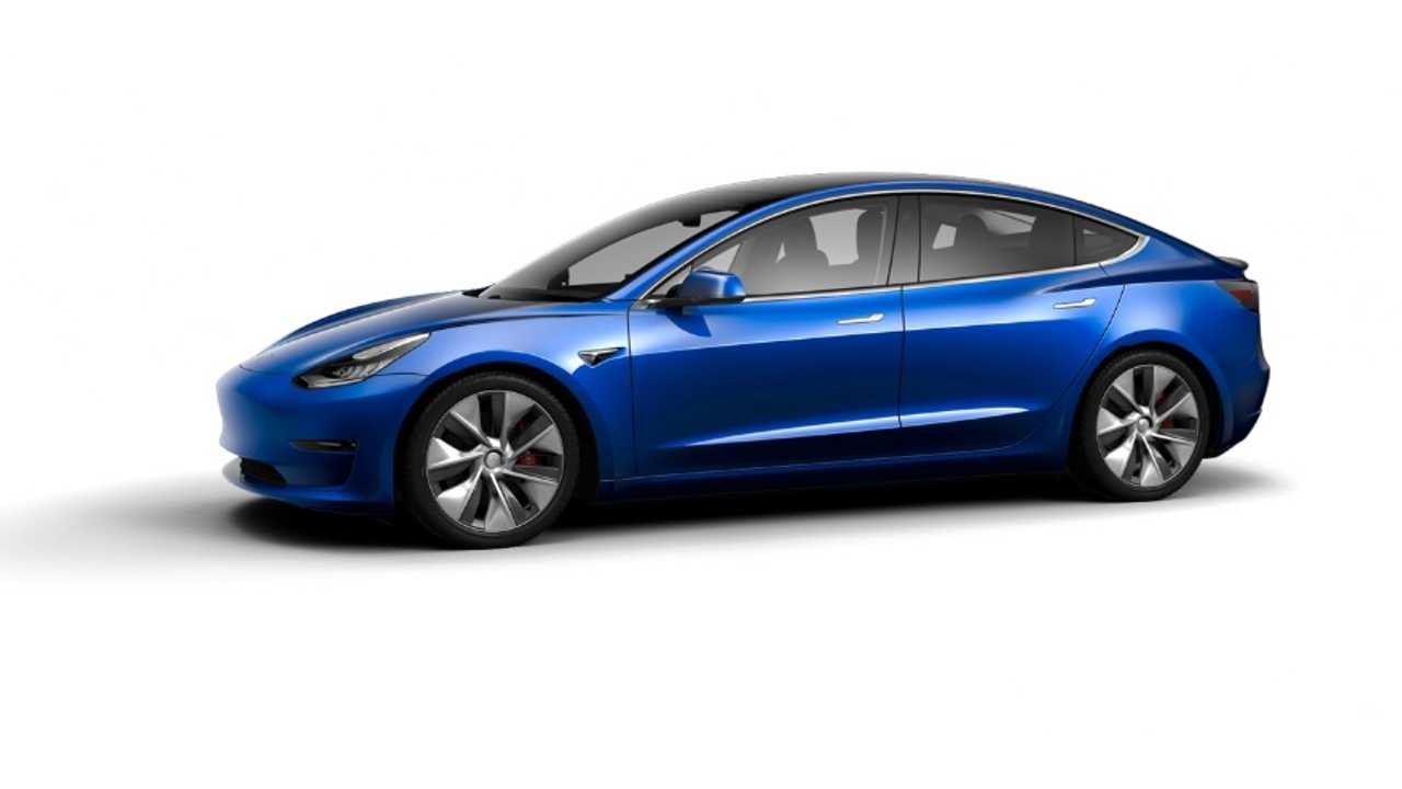 Tesla Model 3 Performance with 19-inch Power Sports wheels in China